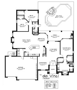 The DaVinci 3 Bedroom Floor Plan