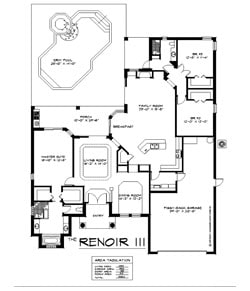 The Renoir 3 Bedroom Floor Plan
