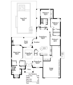 The Renoir 4 Bedroom Floor Plan