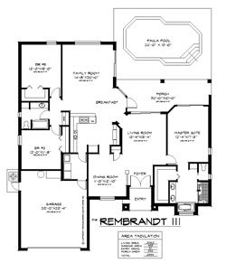 The Rembrandt 3 Bedroom Floor Plan