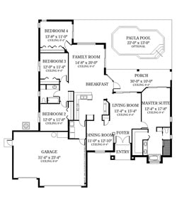 The Rembrandt 4 Bedroom Floor Plan